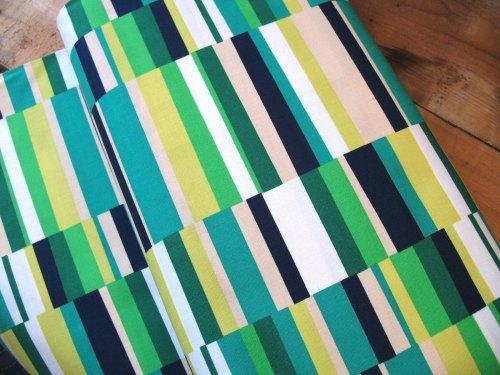 Emmie K for Robert Kaufman Geo Pop2 rectangle in emerald