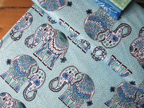 Valori Wells Jules & Indigo Elephant on cobalt blue