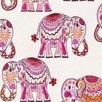Valori Wells Jules & Indigo Elephant on pomegranate Pink