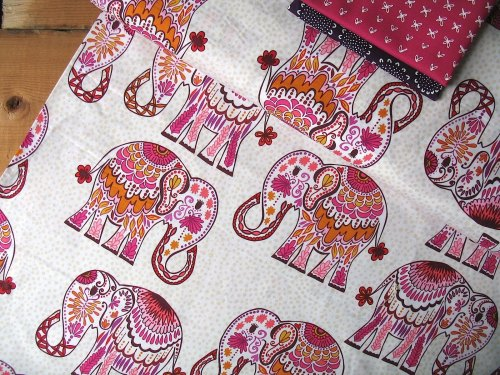 Valori Wells Jules & Indigo Elephant on pomegranate Pink
