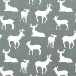 Premier Prints deer on grey - light upholstery