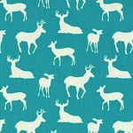 Premier Prints deer on blue  - light upholstery