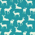 Premier Prints deer on blue  - light upholstery