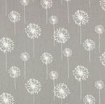 Premier Prints small grey dandelion on grey  TWILL - light upholstery