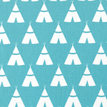 Premier Prints Tee Pee in blue  - light upholstery