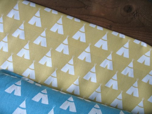 Premier Prints Tee Pee in saffron - light upholstery