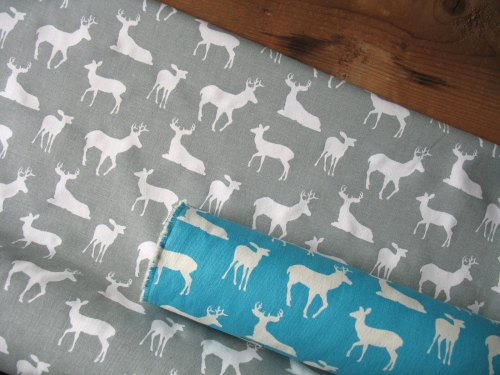 Premier Prints deer on grey - light upholstery