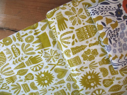 Lisa Congdon cloud 9 organics Kindred fable in citron