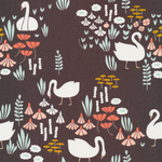 Elizabeth Olwen Park Life - Royal swans in Brown
