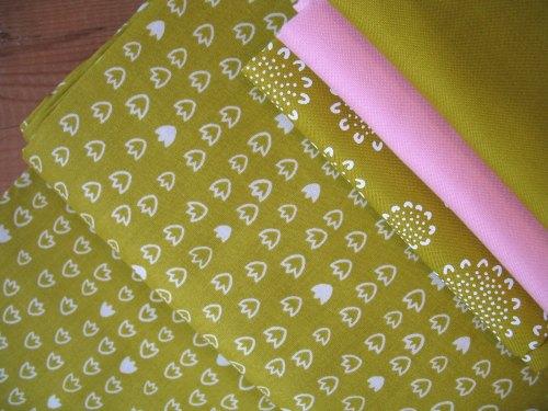 Aneela Hoey Moda Vignette tulip in citron