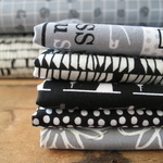 Mini Cloth stack -Sewing mad - in black and white