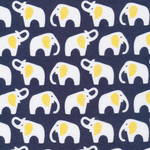 Cloud 9 FLANNEL Elephants on navy
