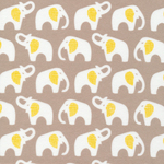 Cloud 9 FLANNEL Elephants on Grey