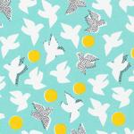 Cloud 9 Organics Glint flock in turquoise