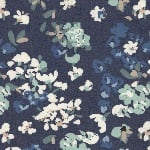 Art Gallery Puzzle Painterly Wash  DENIM Print