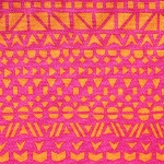 Ellen Luckett Baker Rough cut -mosaic in pink and orange