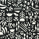 Ellen Luckett Baker Rough cut -botanica in black