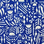 Ellen Luckett Baker Rough cut -botanica in blue