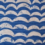 Kokka Japanese Atlantic wave in blue canvas weight