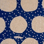 Echino Japan fox in Den in blue