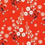 Aneela Hoey Moda Foxglove - foxgloves in orange