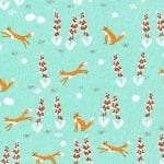 Aneela Hoey Moda Foxglove -fox in the foxgloves turquoise