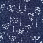 Eloise Renouf Threads Stitch stem navy   - DOUBLE GAUZE