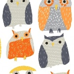 BOLT END -Dear Stella Wildwood owls on multi