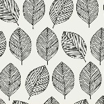 Victoria Johnson WHISPER leaf outline black