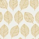 Victoria Johnson WHISPER leaf outline mustard