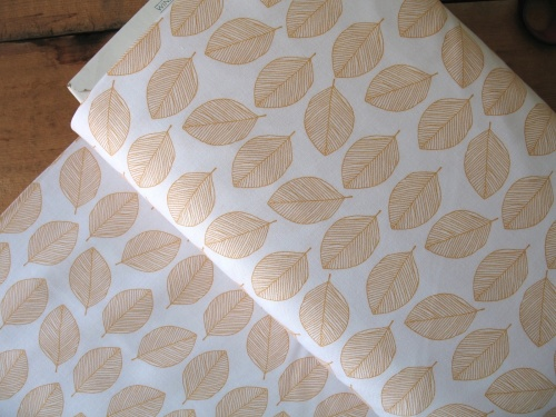 Victoria Johnson WHISPER leaf outline mustard