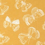 Victoria Johnson WHISPER bold butterfly on mustard