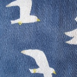 Trefle for Kokkka  DOUBLE GAUZE seagulls on blue