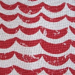 Kokka Japanese Atlantic wave in red  canvas weight