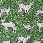 Kokka Japanese Nordic stag on green