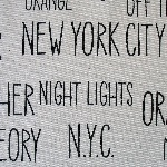 Kokka Japanese New York large text canvas weight