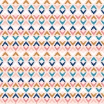 Cathy Nordstrom millefleur aztec shapes on soft pink