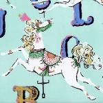 Dear Stella carousel horse on aqua