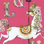 Dear Stella carousel horse on pink