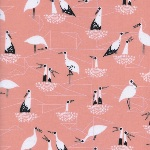 Sarah Watts - from Porto with love - storks on pink