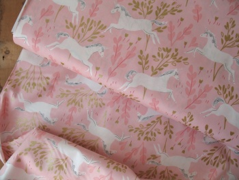 Sarah Jane Designs MAGIC Unicorn forest in pink  with Metallic