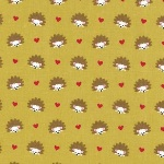 Michael Miller Hedgehog heaven on mustard