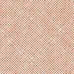 Carolyn Friedlander Euclid check it in tangerine on Essex LINEN