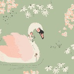 BOLT END - Bonnie Christine Hello Ollie dabbling swan in sage
