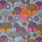 Dutch baby corduroy  abstract Scandi forest in blues