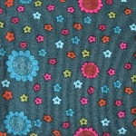 Dutch baby corduroy  abstract Scandi flower pop on diesel