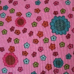 Dutch baby corduroy  abstract Scandi flower pop on pink