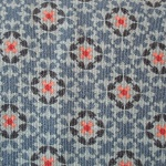Dutch baby corduroy Wallpaper print on cool blue