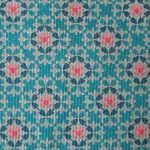 Dutch baby corduroy Wallpaper print on turquoise