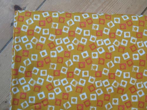 Jillian Philips - Paper Meadow -block prints on yellow
